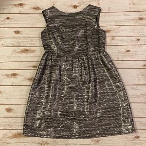 Antonio Melani Silver Fit and Flare Dress Size 14
